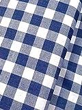 Slantastoffe Baumwollstoff Dekostoff Denim Karo blau (2m)