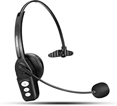 Bluetooth Headset V5.0, Pro Wireless Headset High Voice Clarity with Noise Canceling Mic for Cell Phone Trucker Engineers Business Home Office-JBT800