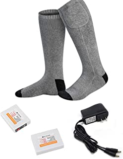 con Cavo USB per Sci Invernale DZX Calze//Scaldapiedi Riscaldanti Elettrici Campeggio E Lavoro Allaperto Unisex,L