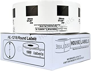 """50 Roll of HouseLabels Compatible with Brother DK-1218 Round Labels (Diameter 1""""/25.4mm; 1000 Labels per Roll) - BPA Free!"""