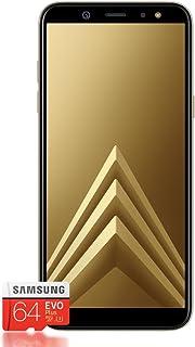 Samsung 三星 Galaxy A6+ 智能手机捆绑包(6.0 英寸,32GB 内部存储) - 德文版本F-SMA605FZDAMZ Deutsche Version (Dual SIM) 32 GB + 64 GB SD-Karte 黑色