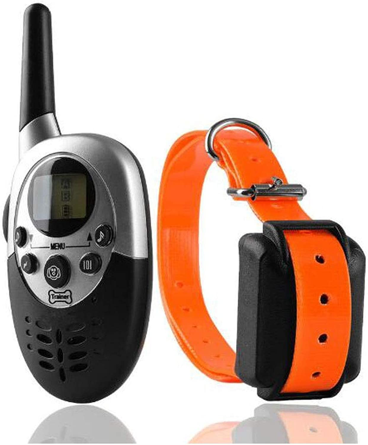 Dog Collar, Dog Training, Explosion Remote Control Snoring Pet Training Collar Charging Waterproof Shock Shock, orange (color   orange, Size   18  14.5  4.5cm)