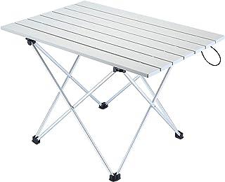 comprar comparacion Movaty Mesa Plegable para Acampar Mesa para Exteriores Portátil Escritorio de Aluminio Liviano con Bolsa de Transporte par...