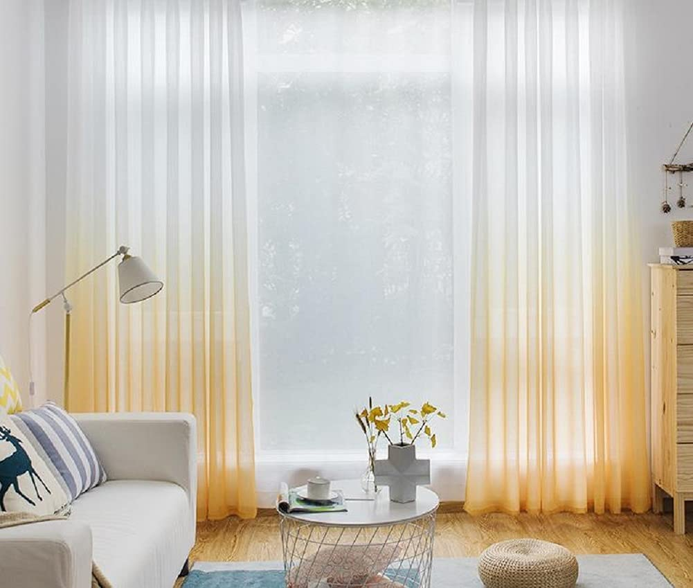 Iuokuby Home Decorative Sheer Curtains Denver Max 45% OFF Mall S Voile Rod Window Pocket