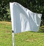 Juego de cuatro banderines de esquina plegables, con bolsa para transportar, blanco