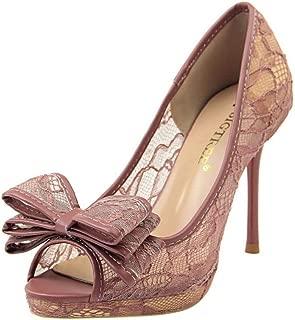 RizaBina Women Elegant Stiletto Heels Summer Shoes Breathable Mesh