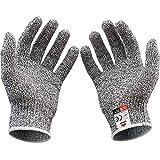 LOMONI Work Gloves Anti-Cutting Gardening Gloves Kitchen Sharpener Chopper Food Grade Cut-Resistant Wear-Resistant Cooking Chef Cut Resistant Safety Kitchen Butcher Construction Worker Food