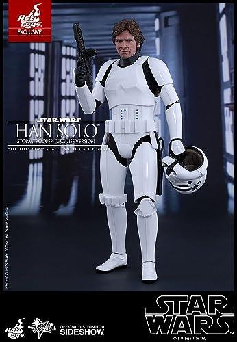 apresurado a ver Hot Toys Star Wars    Episode IV New Hope Han Solo (Stormtrooper Disguise Version) Harrison Ford 1 6 Scale Movie Collectible Figure  nueva gama alta exclusiva