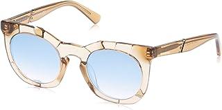 نظارة شمسية من ديزل بتصميم بيضوي لون بني فاتح لامع/بني عاكس - 49 (Dl0270 45 غرام - 49) - 19307211
