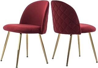 burgundy velvet dining chairs