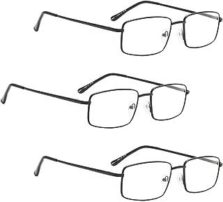 READING GLASSES 3 pack Metal Readers for Men