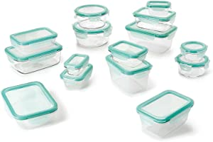 30 Piece Glass Food Storage Round Square Container Set with Lids home organization plastic containers storage containers for organizing storage container Kitchen accessories