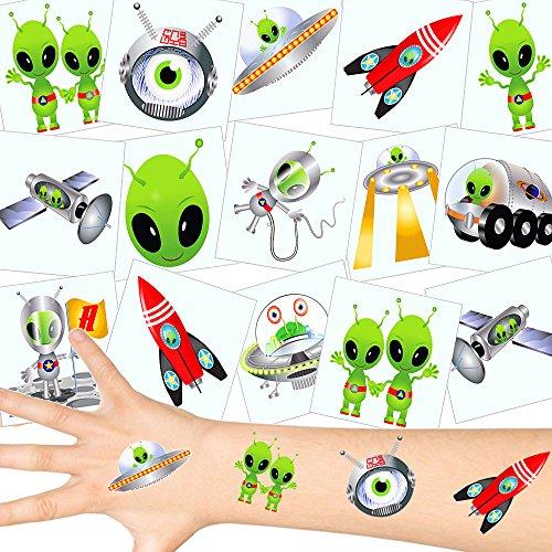 German Trendseller® - 72 x Tatuajes temporales Extranjero┃ Fiestas Infantiles┃ Idea de Regalo┃piñata┃cumpleaños de niños┃ 72 Unidades…