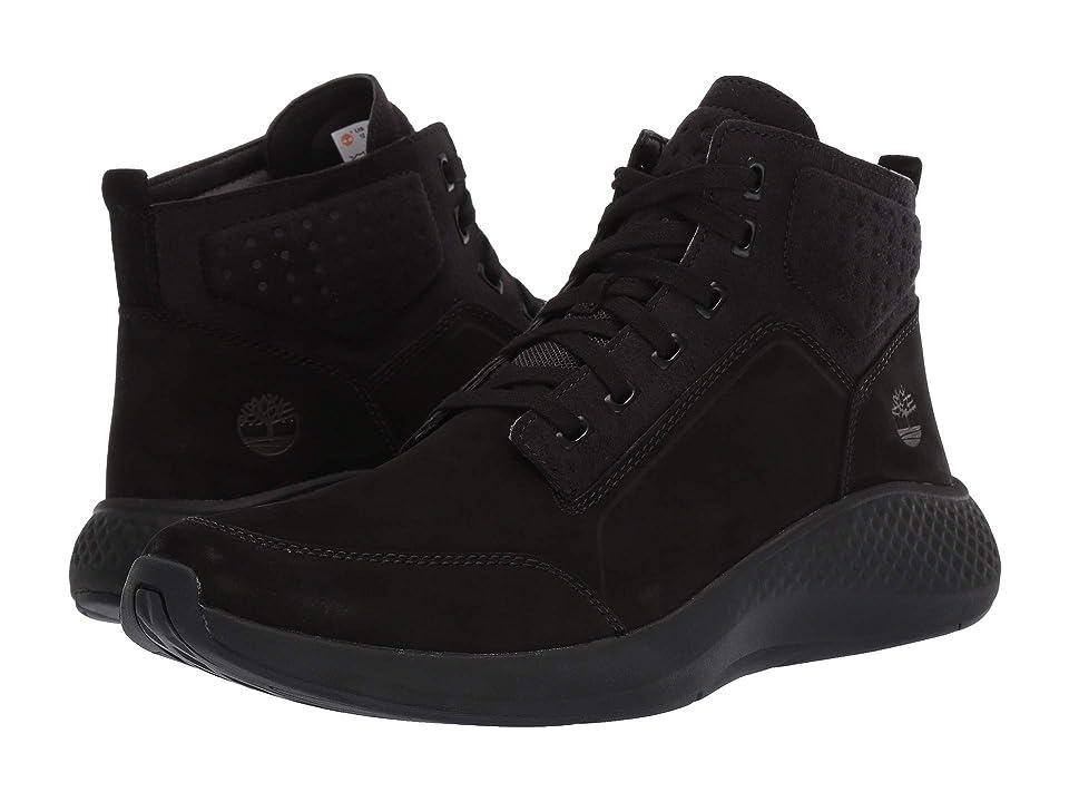 Timberland FlyRoam Go Leather Chukka (Jet Black) Men