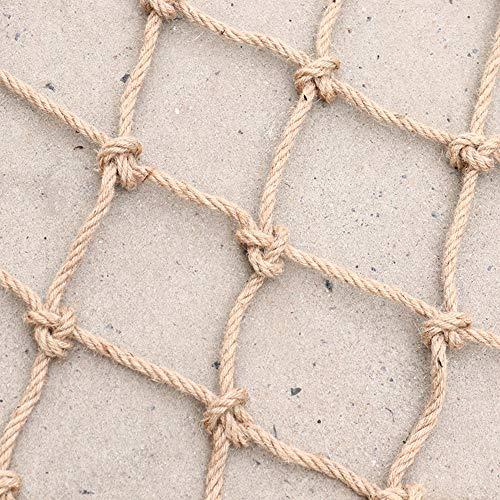 Rete Sicurezza Balcone di Corda In Corda Di Canapa Decorazione Murale Divisorio In Corda Di Canapa Da Arrampicata Per Piante Da Giardino Decorativa Retrò Per La Casa Per Vestiti Bambini Rete Sicura An