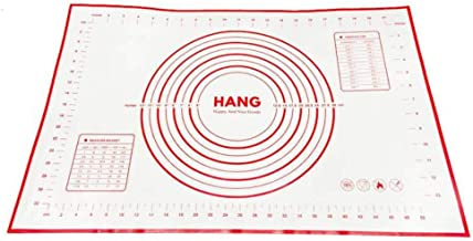 Happy and Nice Goods Large Silicone Pastry Mat, Thick and Non Stick Baking Mat with Measurement, Fondant Mat, Counter Mat,...