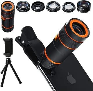 Pixel Set SIRUI Schottglas und Aluminiumgeh/äuse f/ür iPhone Samsung Galaxy und die meisten Anderen Kamera-Handys Wide Angle Black//Blue//Red Portrait Fisheye