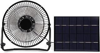 Ventilador USB, Ventilador de Escritorio portátil Alimentado por Panel Solar Recargable Solomi Mini USB para el hogar y el Exterior