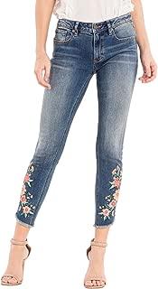 Miss Me Womens Ankle Skinny Jeans in Medium Dark