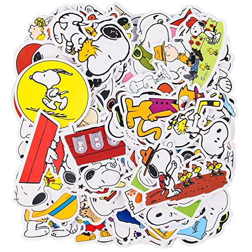 Aufkleber Set, Aufkleber 100 Stück, Ästhetische Aufkleber, Dekorative Wasserdichte Vinylaufkleber, Langlebige, Einzigartige Coole Aufkleber für Auto-Laptops, Motorräder, Skateboards und Gepäck(Snoopy)