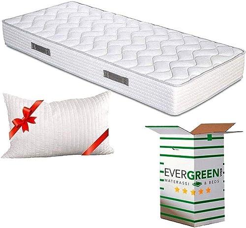 Evergreenweb - Colchones individual 80x190 Espuma de 20 cm de altura para Cama simple - Transpirable y máximo Confort...