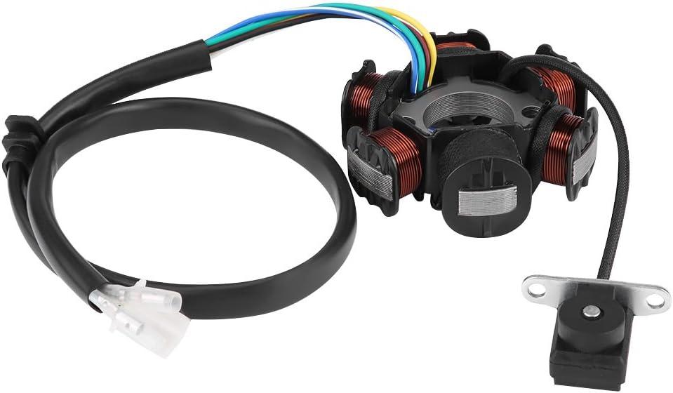 KIMISS 6 bobinas Conjunto de bobina de encendido [Estator magnético] para GY6 50 110 150cc Scooter Moped Go Kart ATV