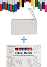 Fabric Markers, Rosaliny 20 Colors Permanent Fabric Marker-Bullet Tips Non-Toxic Fabric Paint Pen with 2 Magic Disappearing Markers & 1 Gift