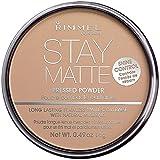 Rimmel London Stay Matte Long Lasting Pressed Powder, Silky Beige 0.49 oz (Pack of 2)