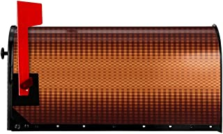 """NCXIAO Magnetic Mailbox Cover - 18""""W x 21""""H, Grid Pattern with Vignette Effect Squares Abstract Mosaic Composition,Mailbox Wraps Post Letter Box Cover"""