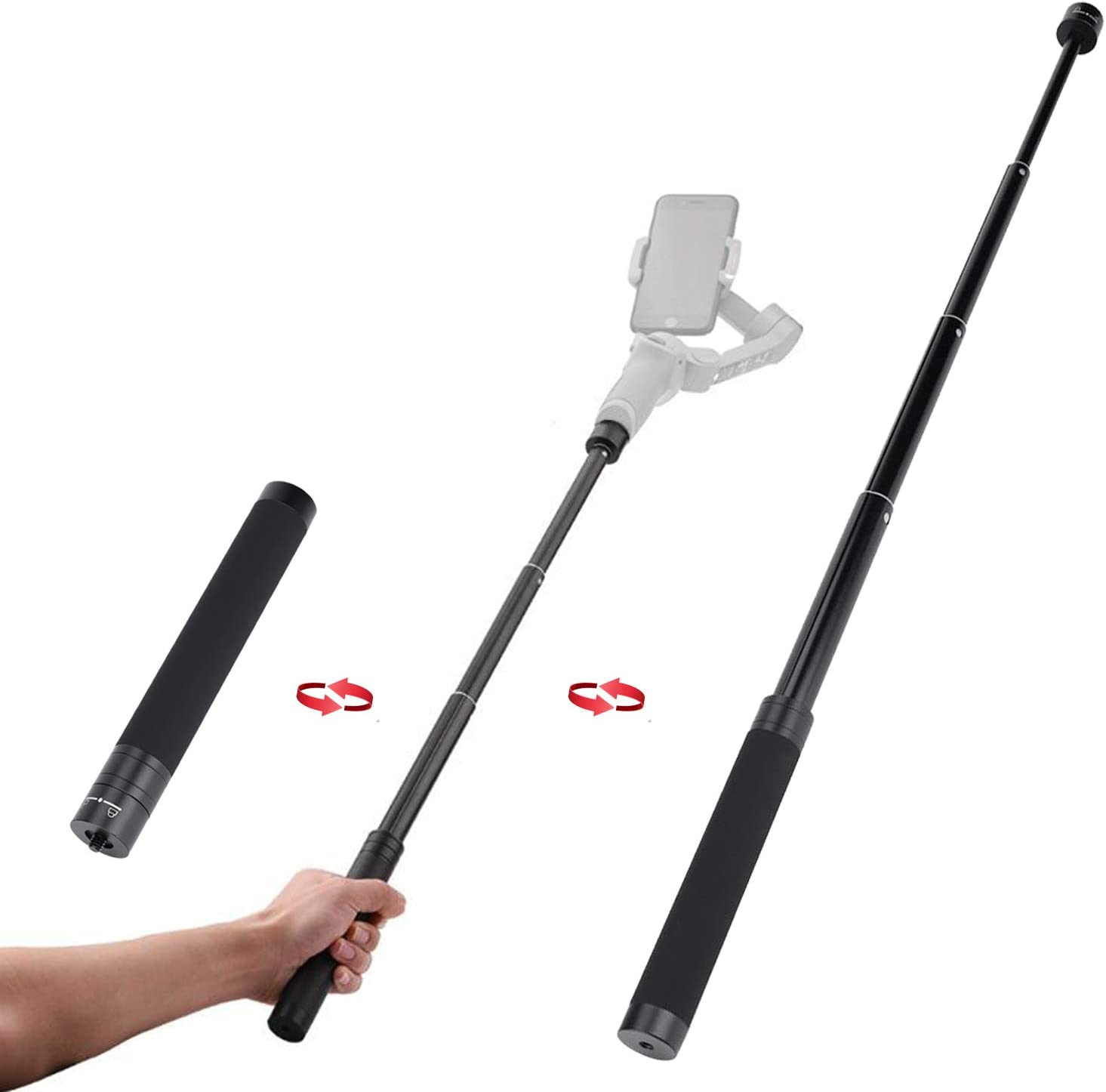 Extension Rod OFFicial Pole Bar Large-scale sale SZ_ABTO Gimba Selfie for Stick Adjustable