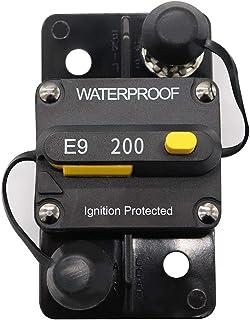 CONRAL Professionelle Leistungsschalter, wasserdicht, zündungsgeschützt, mit manuellem Rücksetzschalter für Auto Marine Yacht, maximal DC 48V, 30A   200A,200A