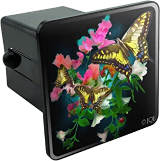 Graphics and More Tiger Swallowtail Butterflies Butterfly Flowers Tow Trailer Hitch Cover Plug Insert 2