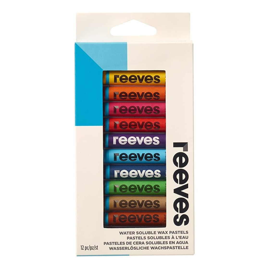 Winsor & Newton Reeves Water Soluble Wax Pastels - Set of 12,