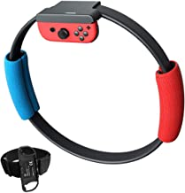 YIKESHU (No Game Include) Ring Con and Leg Strap for Switch Ring Fit Adventure Game NS Ring and Elastic Movement Band Comp...