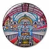 Estación de Tren de Bélgica Imán de Nevera, imánes Decorativo, abridor de Botellas, Ciudad turística, Viaje, colección de Recuerdos, Regalo, Pegatina Fuerte para Nevera