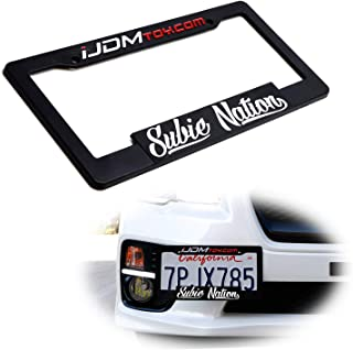 iJDMTOY (1) Subie Nation License Plate Frame, iJDMTOY Create Your Own License Plate Frame + Subie-Nation Vinyl Decal Sticker