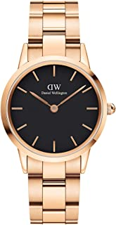 Daniel Wellington Japanese Quartz Watch with Stainless Steel Strap, Rose Gold, 16 (Model: DW00100212)