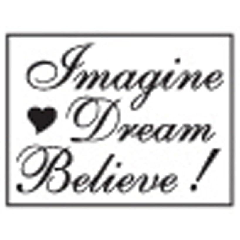 Manuscript Pen Decorative Resin Seal with Wax Stick, Imagine, Dream, Believe