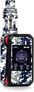 Skin Decal Vinyl Wrap for Smok G-Priv 2 230w touch screen Vape stickers skins cover / Digi Camo Sports Teams Colors digital camouflage Blue Silver