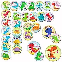 5. MORCART Store Cute Preschool Learning Dinosaur Fridge Magnets (30 pieces)