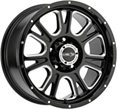 17 inch 17x8.5 Vision Off-Road Fury Gloss Black Milled Spoke wheel rim; 5x5 5x127 bolt pattern with a +0 offset. Part Number: 399-7873MS0