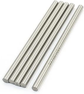 RilexAwhile 5Pcs 100mm x 5mm Stainless Steel Ground Shaft Round Rod for RC Helicopter Airplane