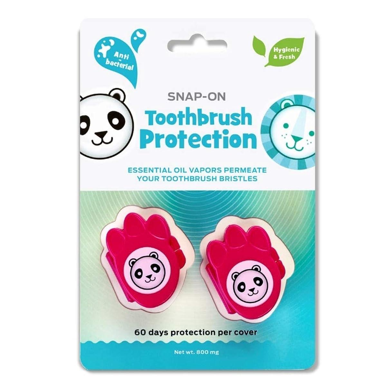デュアル猛烈な研磨剤Dr. Tung's Kid`Sスナップオン歯ブラシ消毒2 Eaが - は色が異なる場合がございます(2パック) 2パック