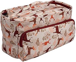 Katech Sac Rangement pour Fils Textiles, Sac a Tricot Rangement en Laine Aux Motifs Délicats, Sac de Rangement pour Croche...