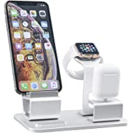 GRANDIX 3 in One Charging Dock for Apple Series Charger Docks Station for Airpods iWatch iPhone...