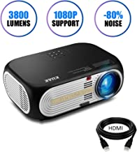 Projector, KUAK HT60 3800 Lumens Portable Video Projector, 1080P and 200
