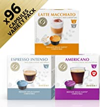 REAL COFFEE Dolce-Gusto Compatible, Variety Bundle, 6 Packs, 96 Capsules, Denmark
