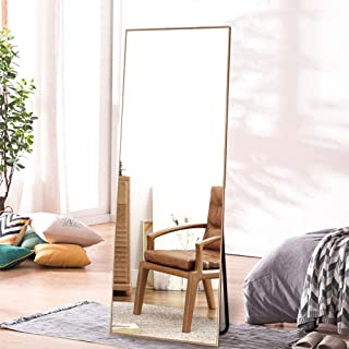 """ONXO Full Length Mirror Large Floor Mirror Standing or Wall-Mounted Mirror Dressing Mirror Frame Mirror for Living Room/Bedroom/Cloakroom (65""""X22"""", Gold)"""
