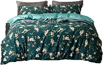 Duvet Cover Set Egyptian Cotton Duvet Cover Luxury Bedding Set High Thread Count Long Staple Sateen Weave Silky Soft Breathable WZCUICAN (Color : Green, Size : 1.8m)