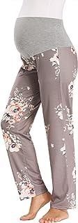 GLAMIX Women's Maternity Lounge Pants Over Belly Sweatpants Pregnancy Soft Pajama Yoga Work Long Pants